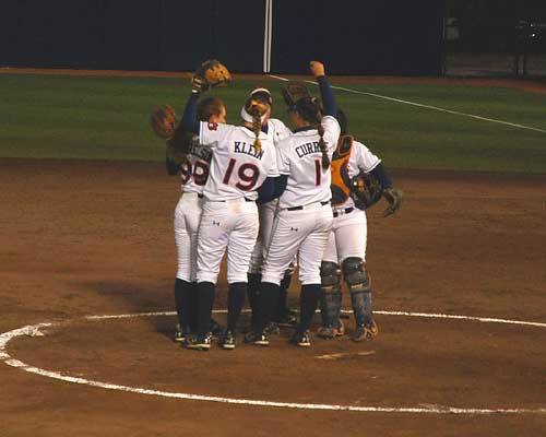 Auburn softball celebration