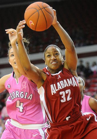 Alabama's Tamara Williams