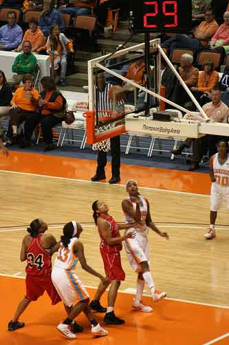 Tennessee Lady Volunteers Basketball Boxout for Rebound
