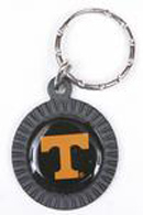 Tennessee Volunteers chrome circle keychains