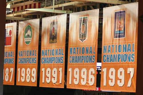 Tennessee Lady Vols Championship Banners