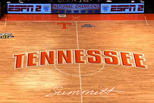 Tennessee Lady Vols Basketball Court
