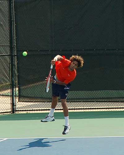 Auburn tennis overhead slam