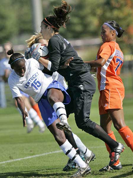 Tough save by florida gator goalee