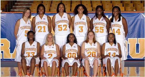 2007-2008 University of Tennessee Women's basketball team photo