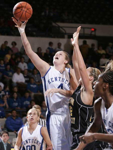 Kentucky Lady Wildcat Basketball Layup