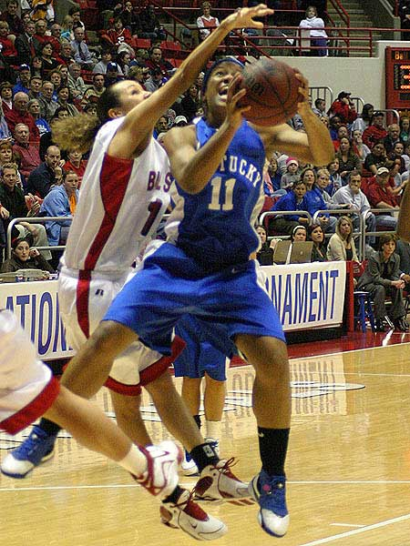 UK womens b-ball player hangs in the air