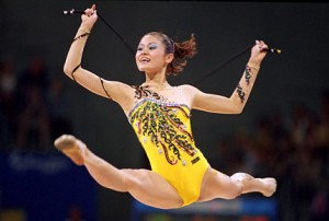 picture of a gymnast.