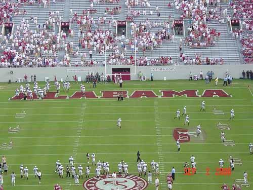 Alabama Football Warmup