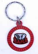 Alabama Crimson Tide Chrome Keychains
