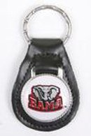 Alabama Crimson Tide Leather Keychains