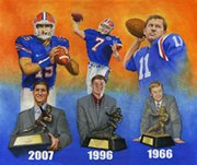 Florida Heisman winners painting