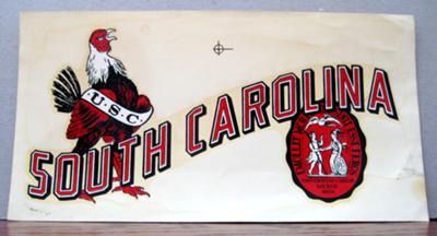 South Carolina Gamecock Decal
